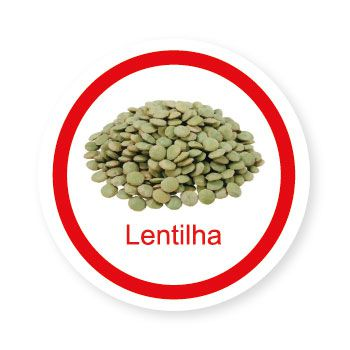 Ficha metálica de alimentos Lentilha