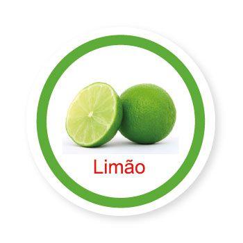 Ficha metálica de alimentos Limão   - Divertimente