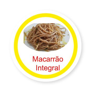 Ficha metálica de alimentos Macarrão Integral   - Divertimente