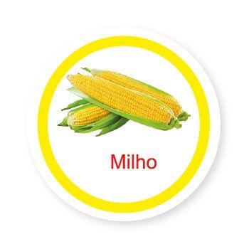 Ficha metálica de alimentos Milho   - Divertimente