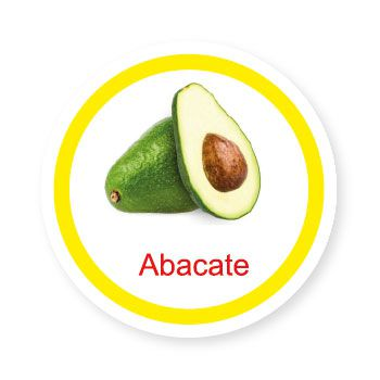 Ficha metálica de alimento  - Abacate   - Divertimente