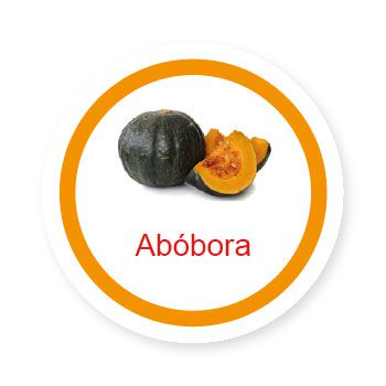 Ficha metálica de alimentos Abóbora