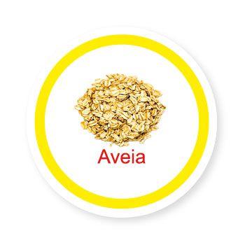 Ficha metálica de alimentos Aveia  - Divertimente