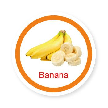Ficha metálica de alimentos Banana  - Divertimente