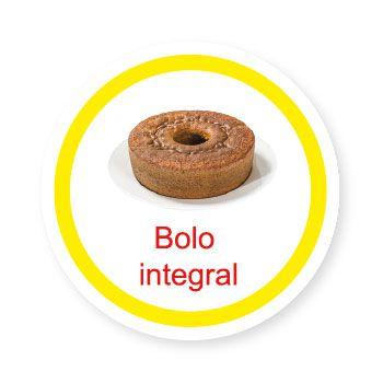 Ficha metálica de alimentos Bolo integral   - Divertimente