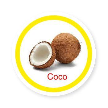 Ficha metálica de alimentos Coco  - Divertimente