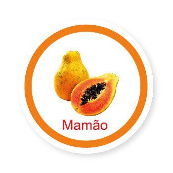 Ficha metálica de alimentos Mamão   - Divertimente