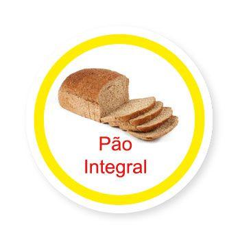 Ficha metálica de alimentos Pão Integral   - Divertimente