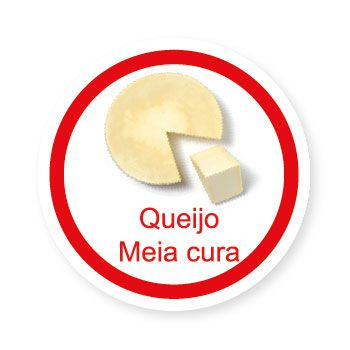 Ficha metálica de alimentos Queijo Meia Cura   - Divertimente