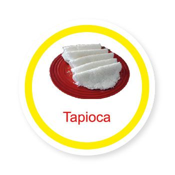 Ficha metálica de alimentos Tapioca   - Divertimente