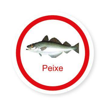 Ficha metálica de alimentos Peixe   - Divertimente