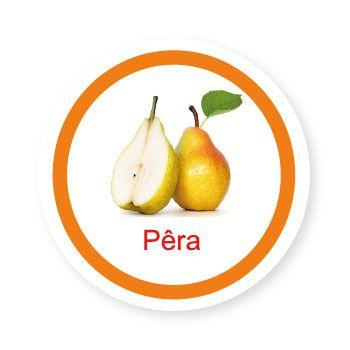 Ficha metálica de alimentos Pera  - Divertimente