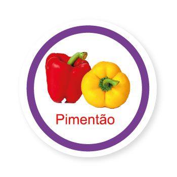 Ficha metálica de alimentos Pimentão   - Divertimente
