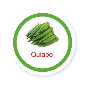 Ficha metálica de alimentos Quiabo   - Divertimente