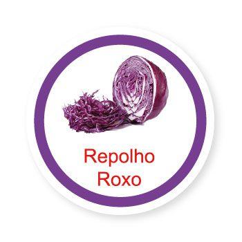 Ficha metálica de alimentos Repolho Roxo   - Divertimente