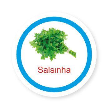 Ficha metálica de alimentos Salsinha   - Divertimente