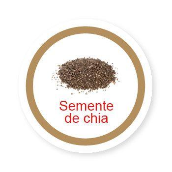 Ficha metálica de alimentos Semente de Chia   - Divertimente
