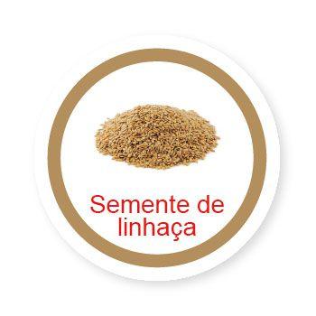 Ficha metálica de alimentos Semente de Linhaça   - Divertimente