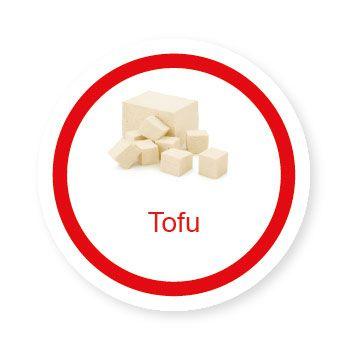 Ficha metálica de alimentos Tofu