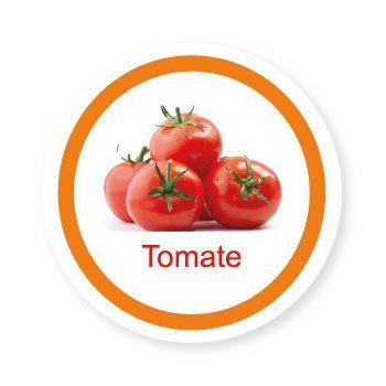 Ficha metálica de alimentos Tomate   - Divertimente
