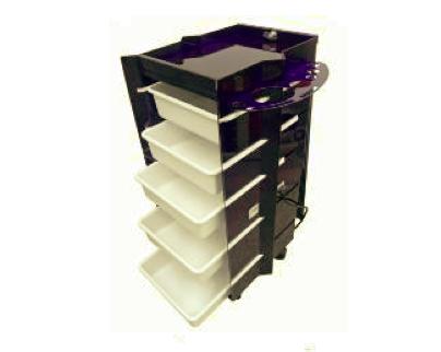 Carrinho Auxiliar Cube - Estrutura Preta - porta com fechadura (ref.799)