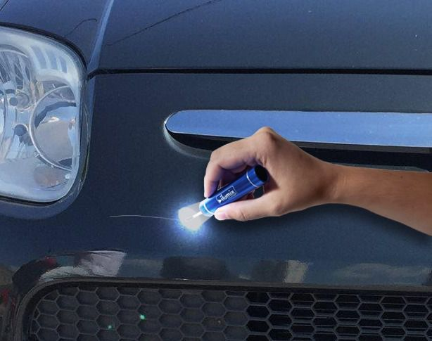 Kit Pincel Tira Risco De Retoque Automotivo com Luz de LED Ref. 1002