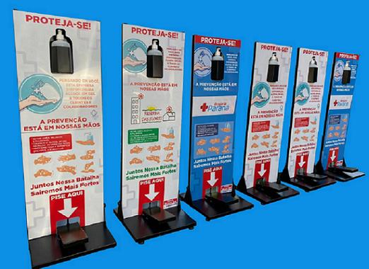 Totem Display Álcool Gel Para Higienizar Mãos Ref: 2020