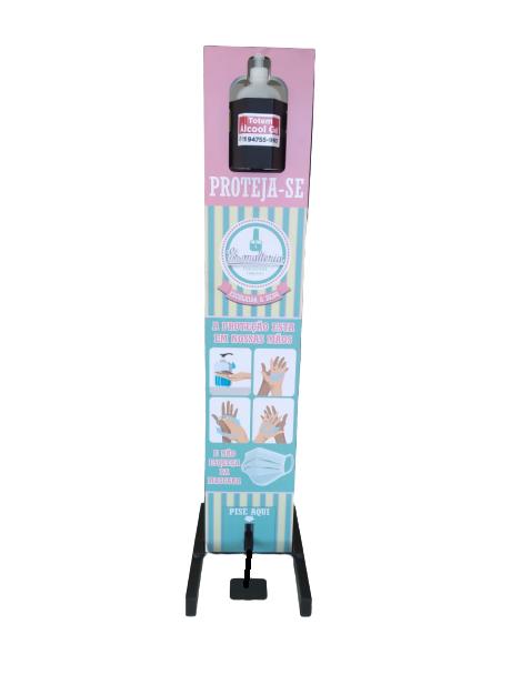 Totem Display Álcool Gel Slim Para Higienizar Mãos Ref: 2022