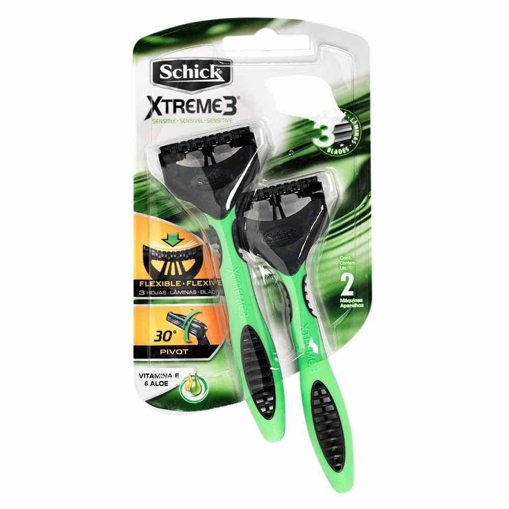 Aparelho de Barbear Schick Xtreme 3 com 2un