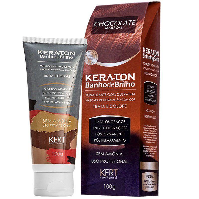 Banho de Brilho Keraton Chocolate Marrom  - Sofí Cosméticos