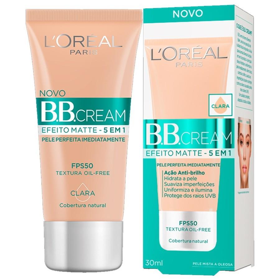 Base Loreal BB Cream 5em1 Efeito Matte FPS50 Clara