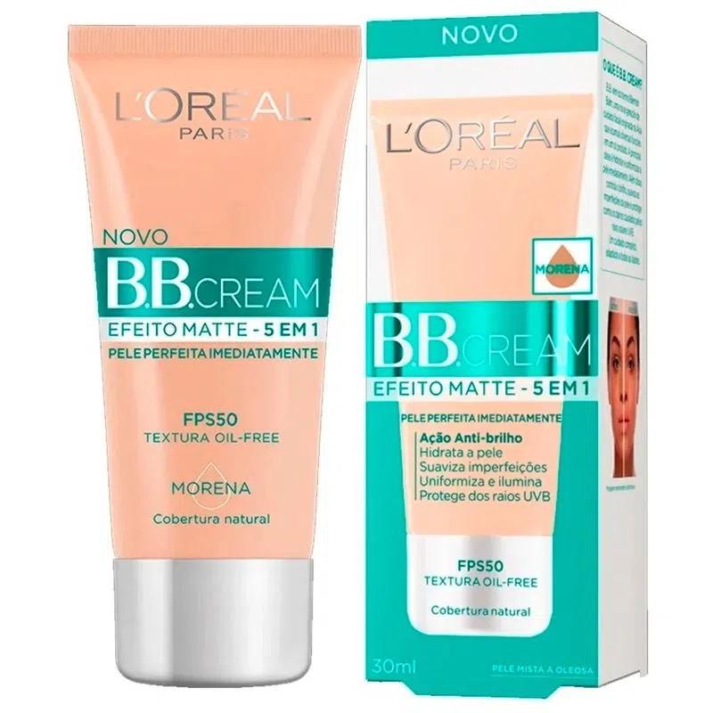 Base Loreal BB Cream 5em1 Efeito Matte FPS50 Morena