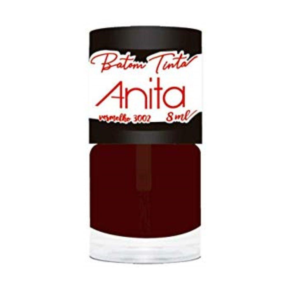 Batom Anita Tinta vermelho 3002  - Sofí Cosméticos