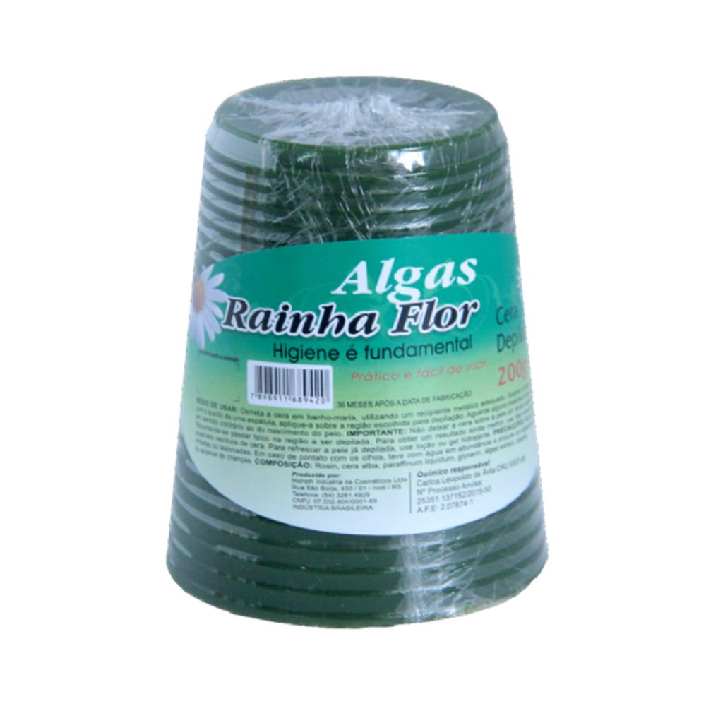 Cera Depilatória Algas Rainha Flor 200g