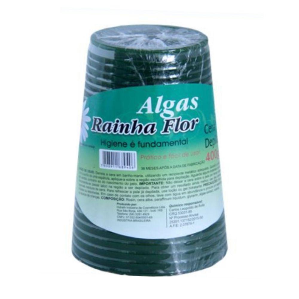 Cera Depilatória Algas Rainha Flor 400g
