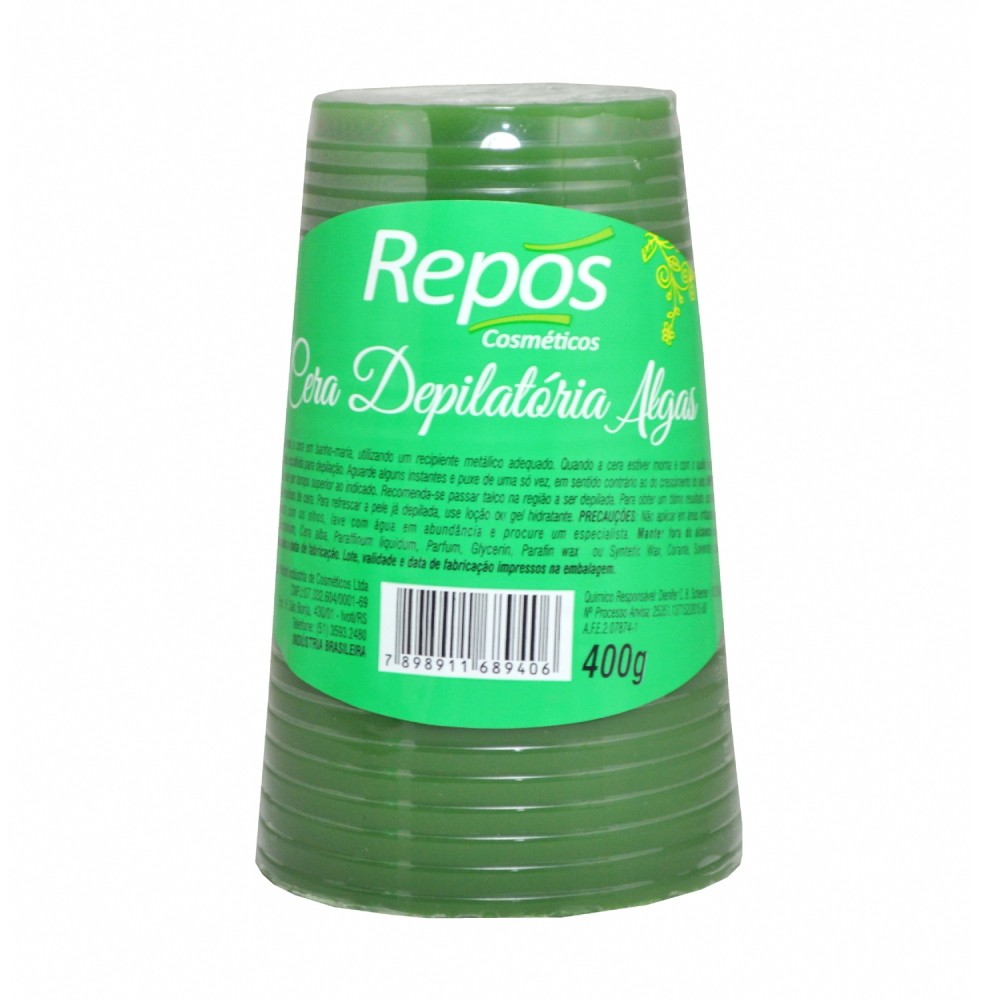 Cera Depilatória Algas Repos 400g