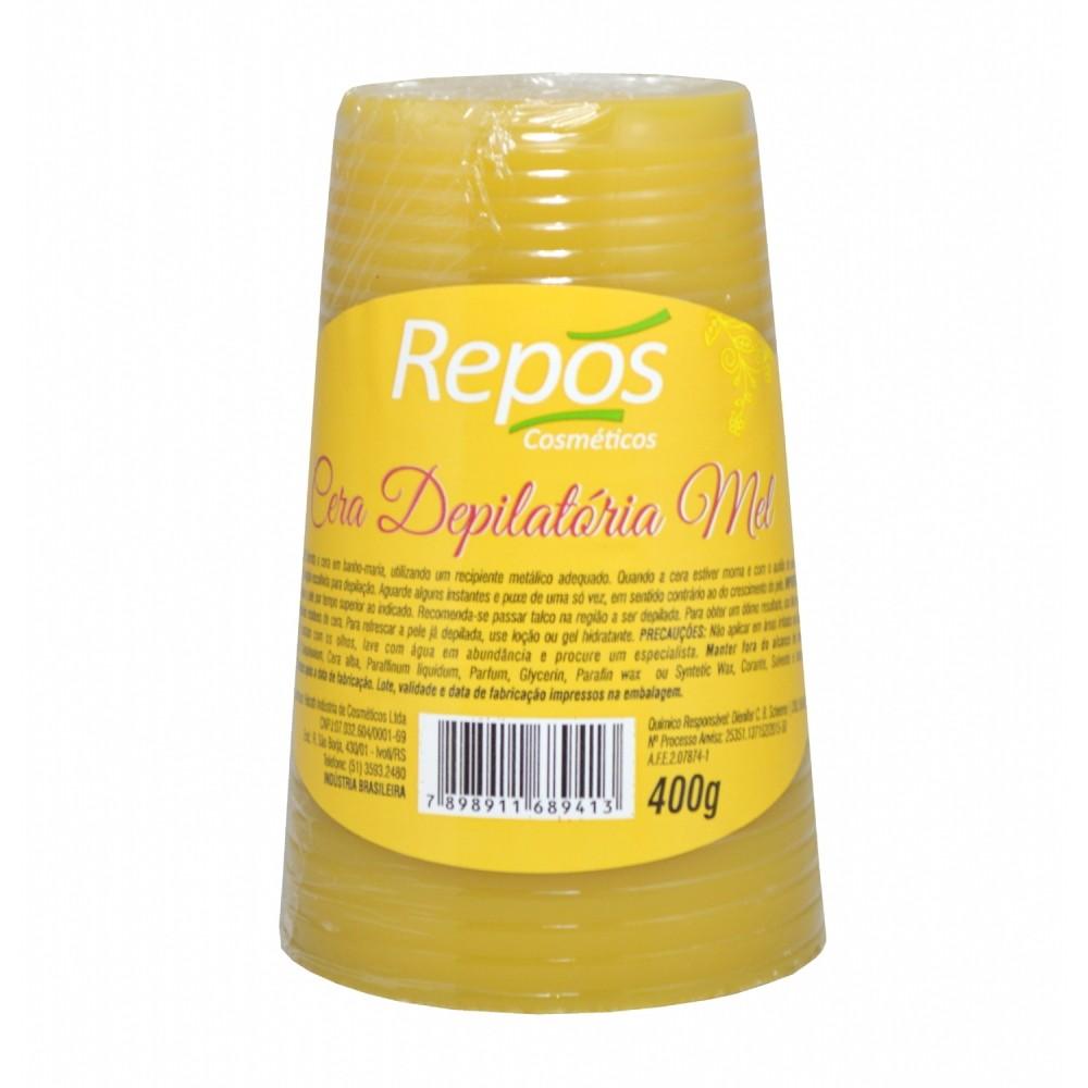 Cera Depilatória Mel Repos 400g