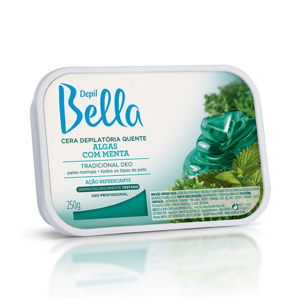 Cera Depilatória Quente Depil Bella Algas com Menta 250g