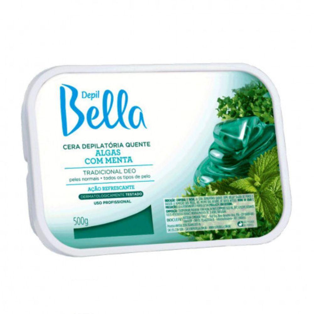 Cera Depilatória Quente Depil Bella Algas com Menta 500g