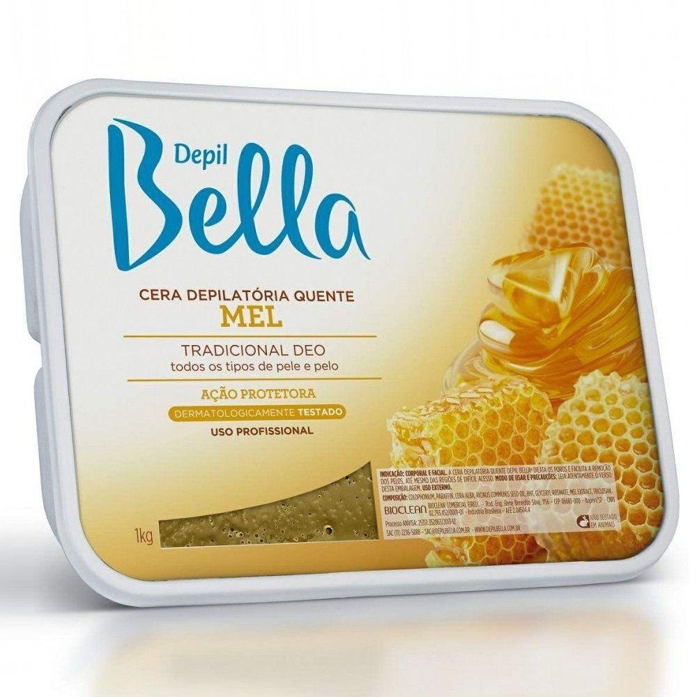 Cera Depilatória Quente Depil Bella Mel 1kg