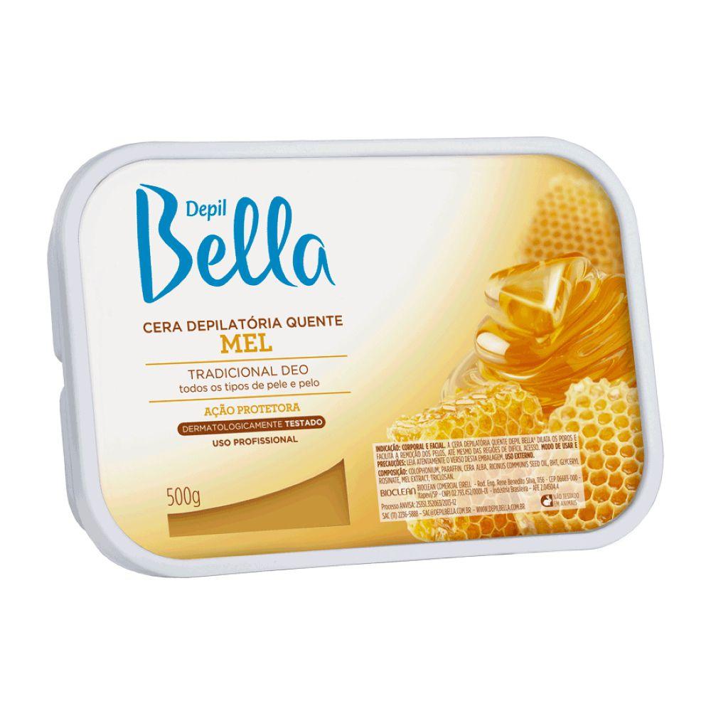 Cera Depilatória Quente Depil Bella Mel 500g  - Sofí Cosméticos