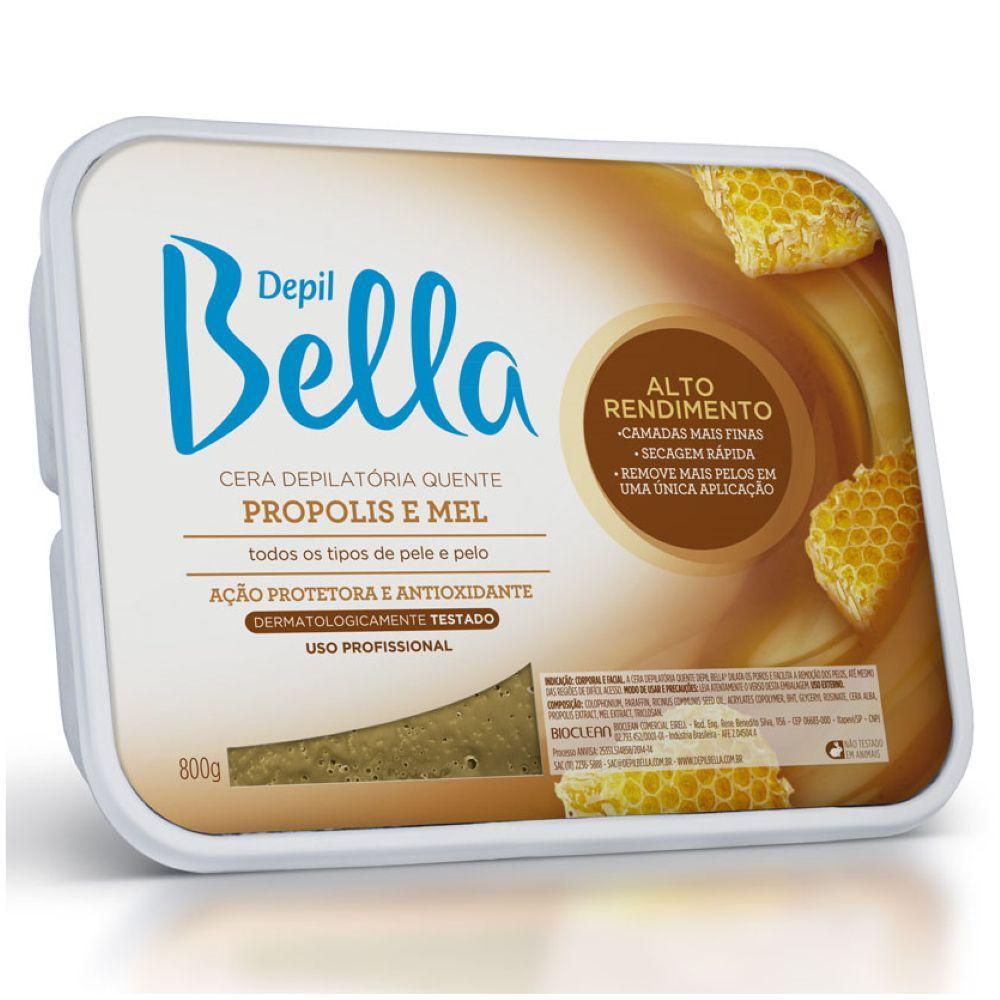 Cera Depilatória Quente Depil Bella Própolis e Mel 800g