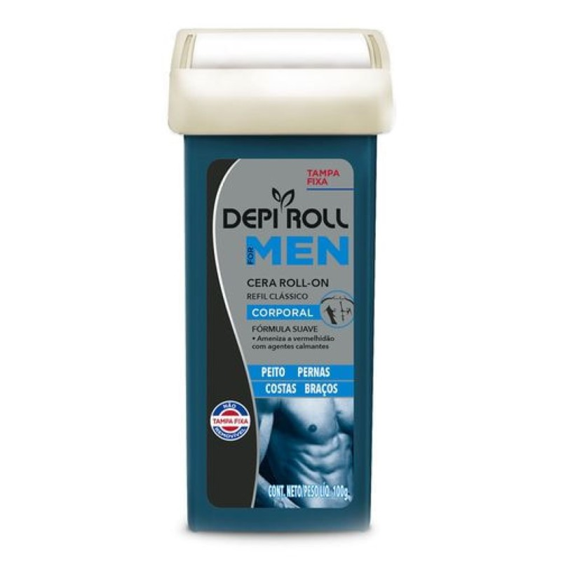 Cera Depilatória Roll-on Depi Roll 100g For Men