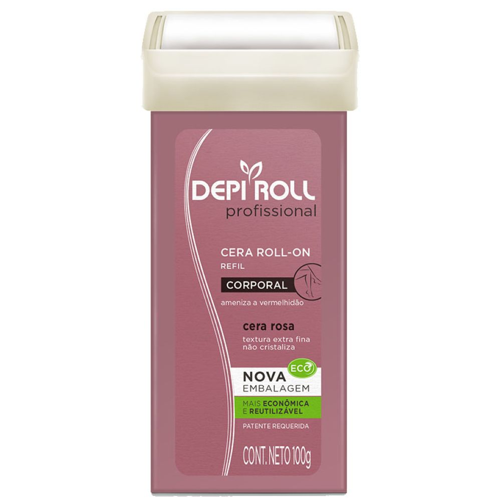 Cera Depilatória Roll-on Depi Roll 100g Rosa
