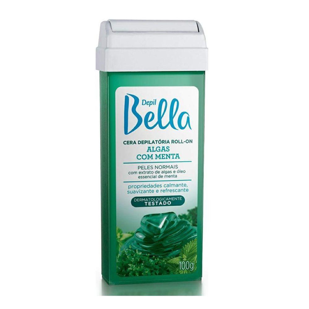 Cera Depilatória Roll-on Depil Bella 100g Algas com Menta  - Sofí Cosméticos