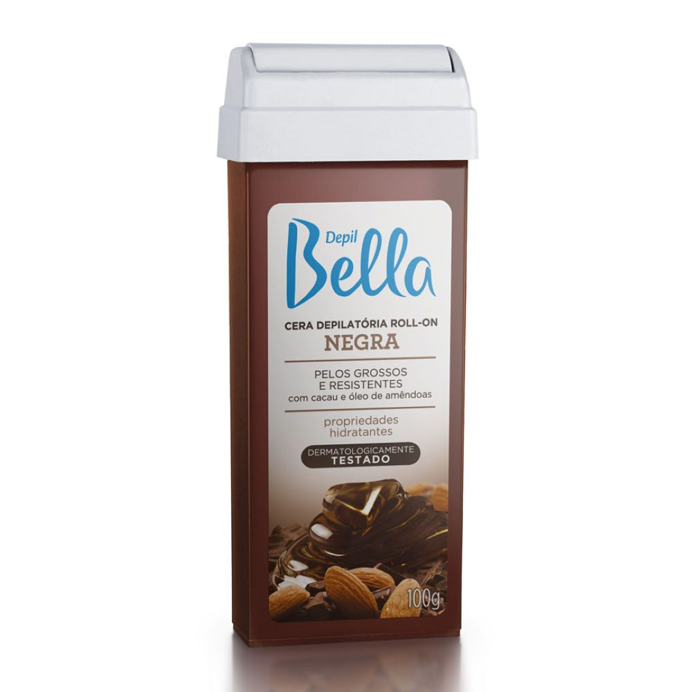 Cera Depilatória Roll-on Depil Bella 100g Negra