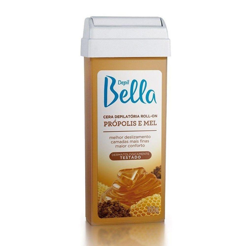 Cera Depilatória Roll-on Depil Bella 100g Própolis e Mel