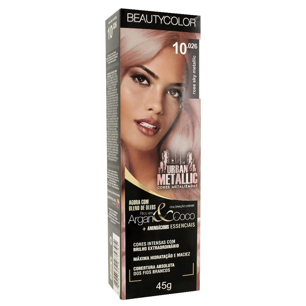 Coloração Beauty Color 10.026 Rose Sky Metallic