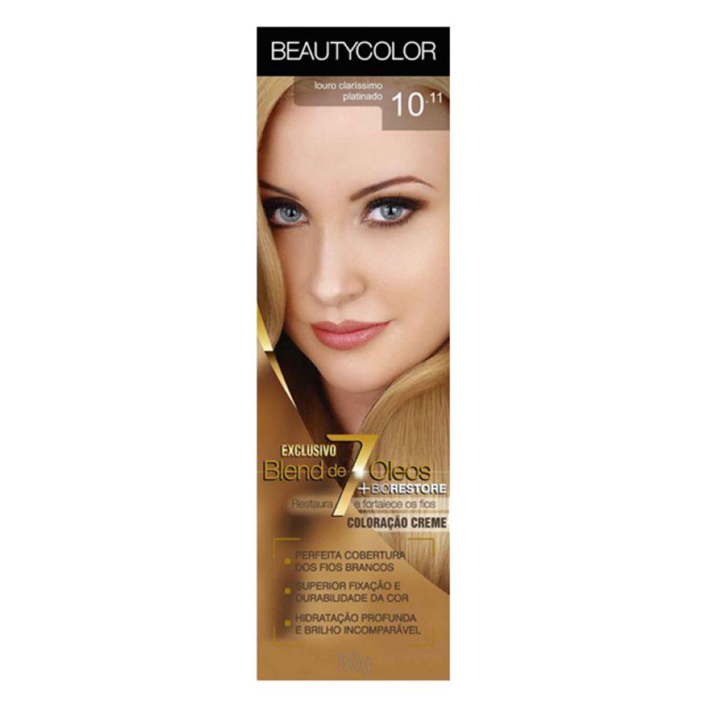 Coloração Beauty Color 10.11 Louro Claríssimo Platinado