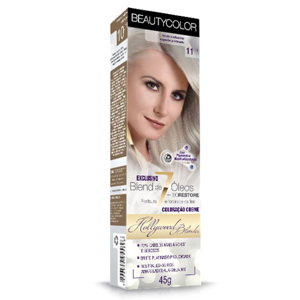 Coloração Beauty Color 11.11 Louro Claríssimo Especial Platinado
